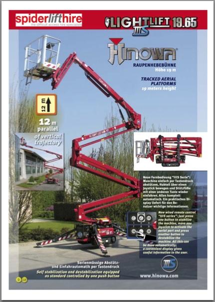 spider lift hire company