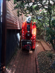 Spider boom lift hire narrow access